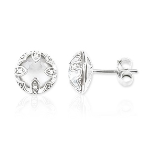 THOMAS SABO EAR STUDS PURITY OF LOTOS