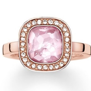 "THOMAS SABO SOLITAIRE RING ""PINK COSMO"""